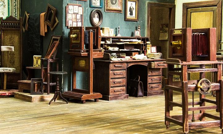 Réplique Miniature d'un studio photo, années 1900 Aliala11