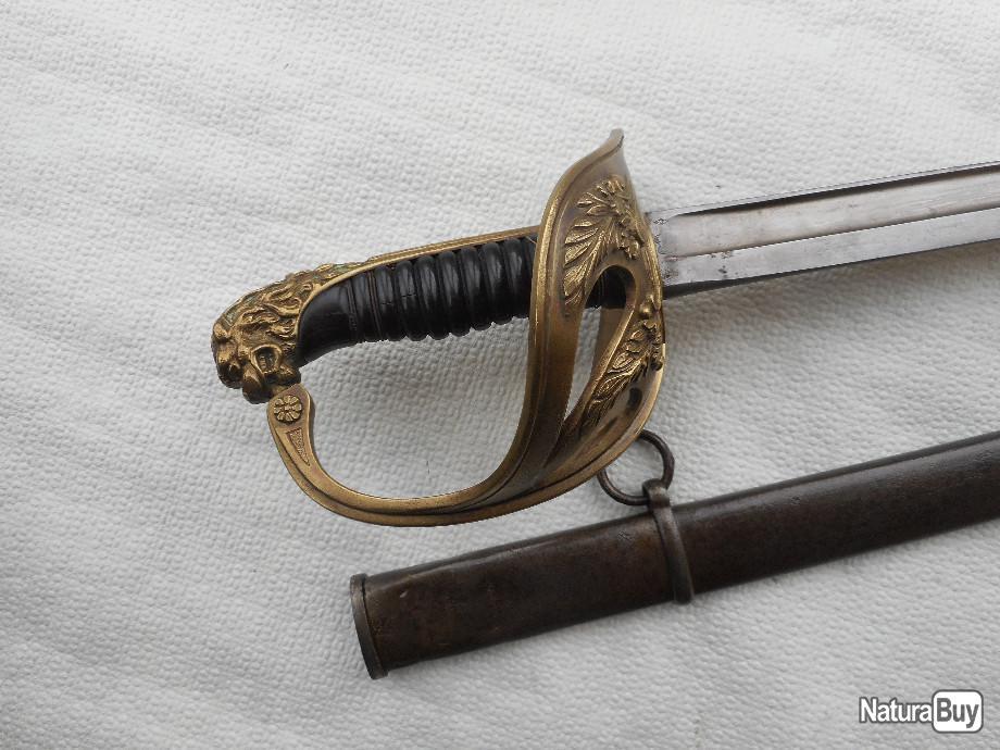 """Montures """"à la Nancy"""" : sabres fantaisie de fourbisseur inspiré du modèle 1882 00027_10"""