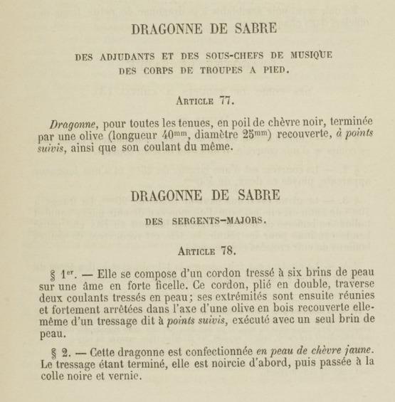 Quelle dragonne ?????? Adjudant 1845 - Page 2 112