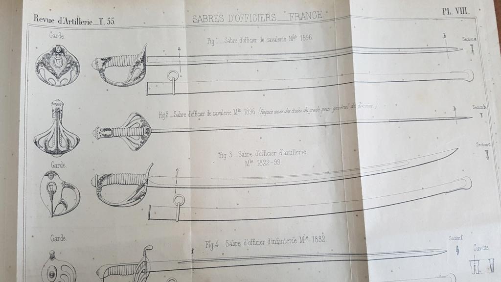 Décoration des sabres d'officier modèles 1822, 1854, 1855, 1882 et 1822-99 2020-118