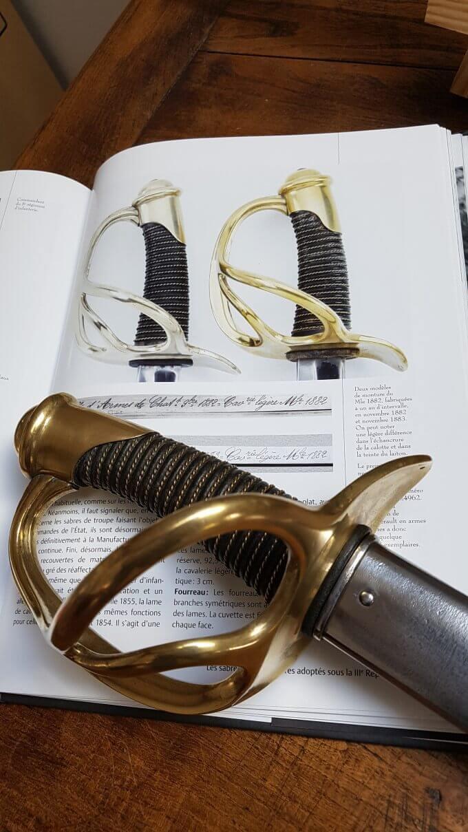 Sabre de cavalerie légère troupe modèle 1882 20210422