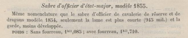 Sabre fantaisie d'officier d'Etat-Major, mle 1855 Em185510