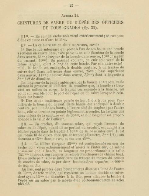 Ceinture d'officier d'infanterie mle 1882 fantaisie ou d'officier de marine ? Firesh11