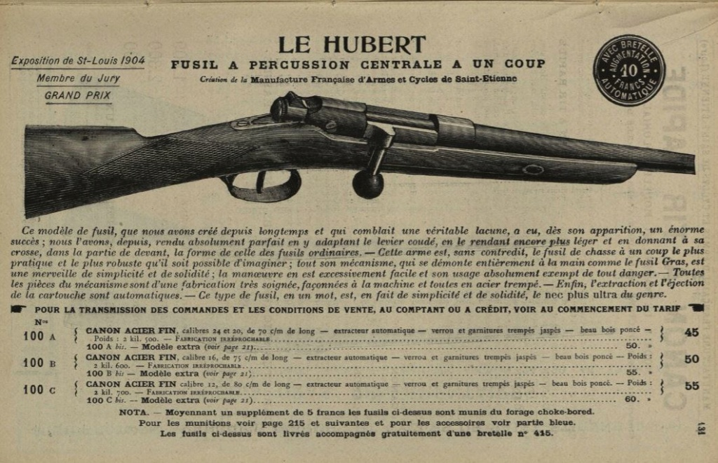 Extracteur fusil Le Hubert St Etienne (version du commerce du Gras) Hubert10