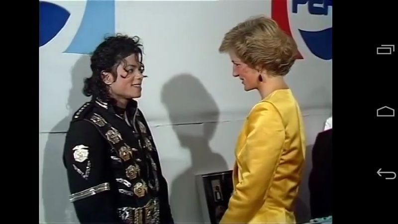 Michael meets Princess Diana & Prince Charles backstage before the concert.   Screen10