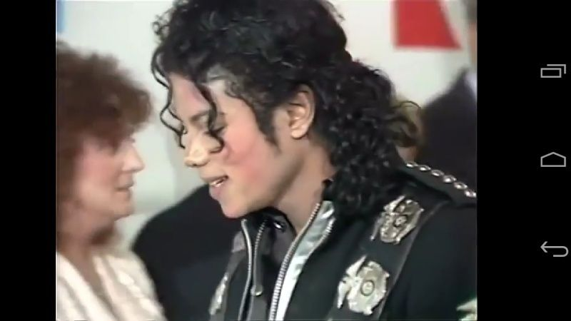 Michael meets Princess Diana & Prince Charles backstage before the concert.   Screen14