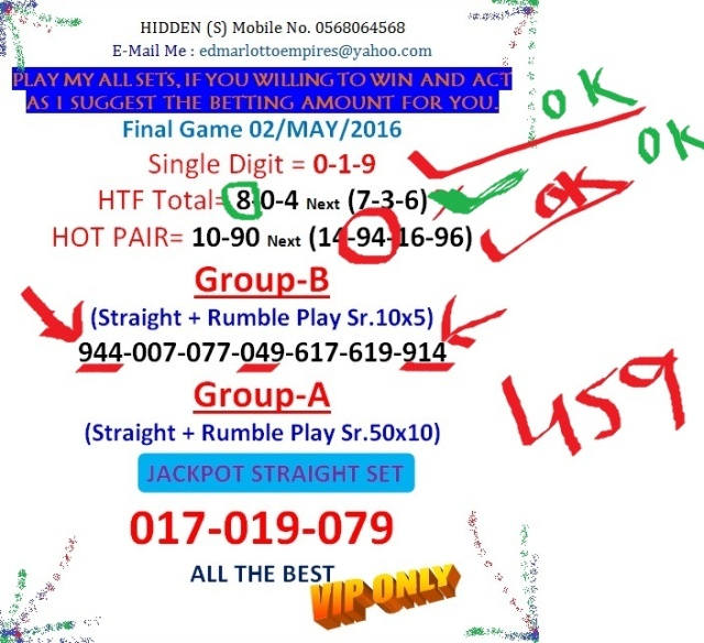 VIP DATA FOR ALL MEMBER BEFORE THE RESULT 02/MAY/2016 11:00 MORNING(FREE VIEW -UPDATE-DONE) Final_13