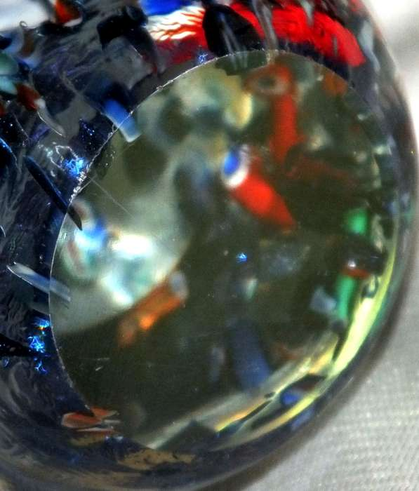 Murano ? scattered millefiori canes egg shaped paperweight for ID Murano14