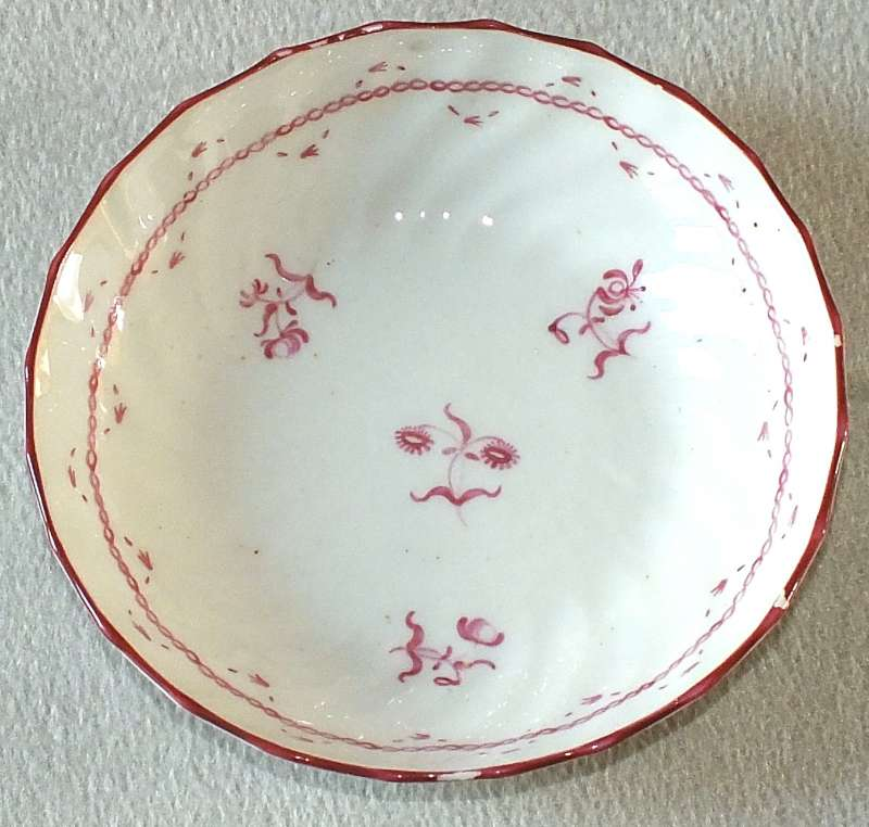 Late 18th or early 19th century porcelain tea bowl saucer for ID Saucer11