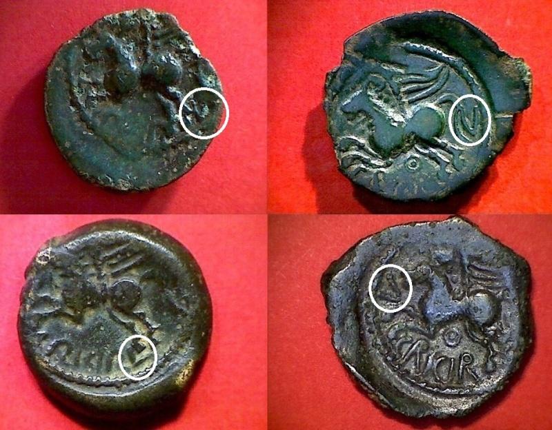 Les différentes variétés du bronze SUESSIONS au cheval ailé 010