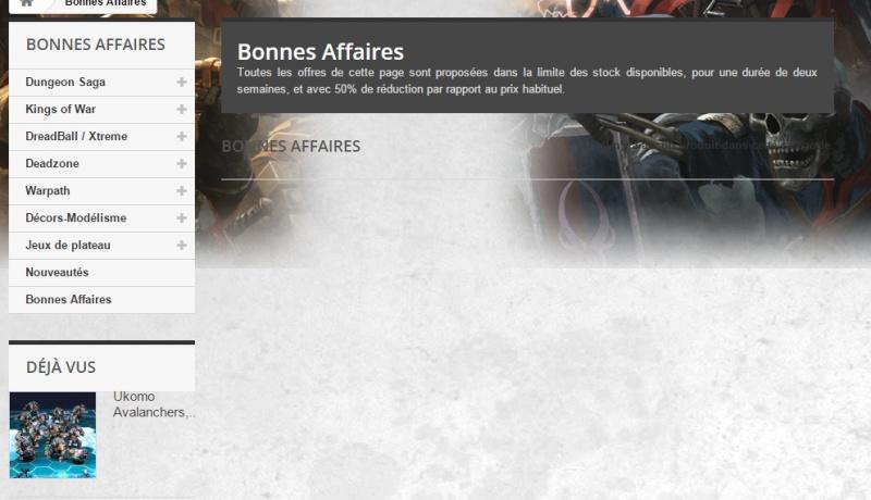 """[Promo] Ouverture de la page """"bonnes affaires"""" sur le site de Mantic France Sarcas10"""