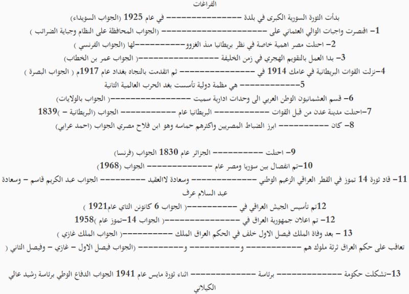 مرشحات وزارية لمادة التاريخ الصف السادس الابتدائي الدور الاول 2019 215