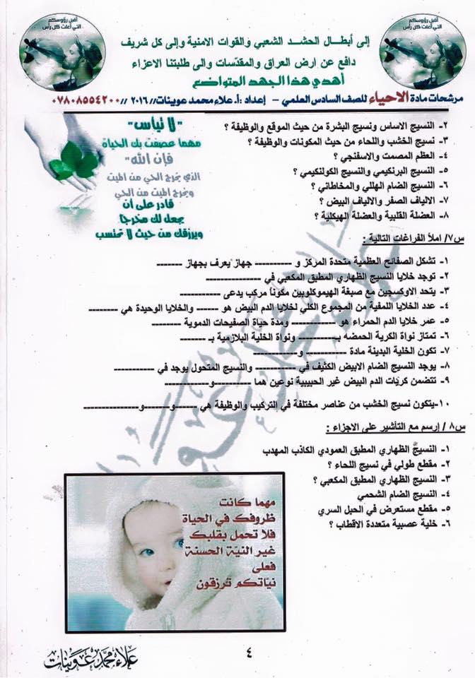 مرشحات احياء سادس اعدادي علمي 2019  419