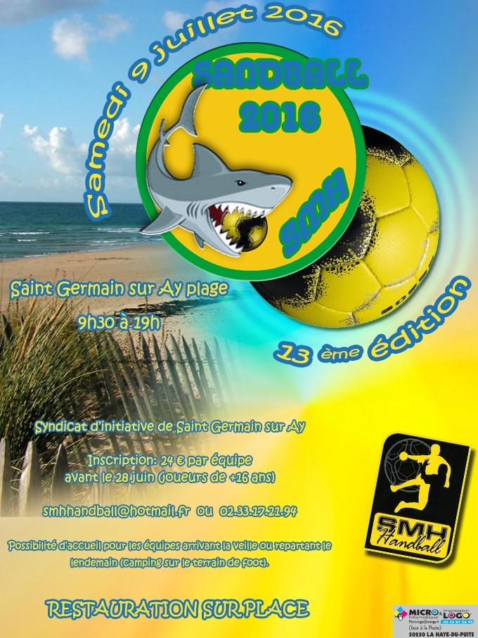 Tournoi Sandball Saint germain sur ay (organisé par la haye du puits) - Page 5 Affich10