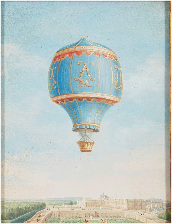 Montgolfier et Montgolfiere, ballon à Versailles Dessin32