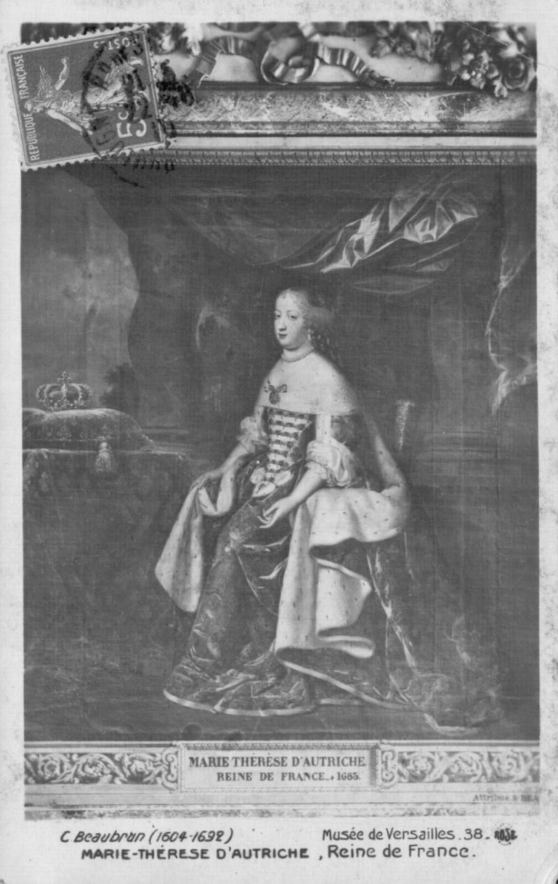 Oeuvre du mois : Marie Thérèse d'Autriche par les Beaubrun Peint113