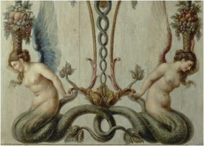 La sirène à Versailles, monstre hybride et dangereux Peintu62
