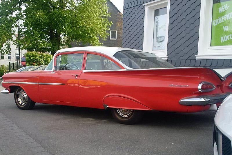 """Chevrolet Impala Biscayne Coupe 1959 - auf dem Parkplatz """"schnappgeschossen""""  418"""