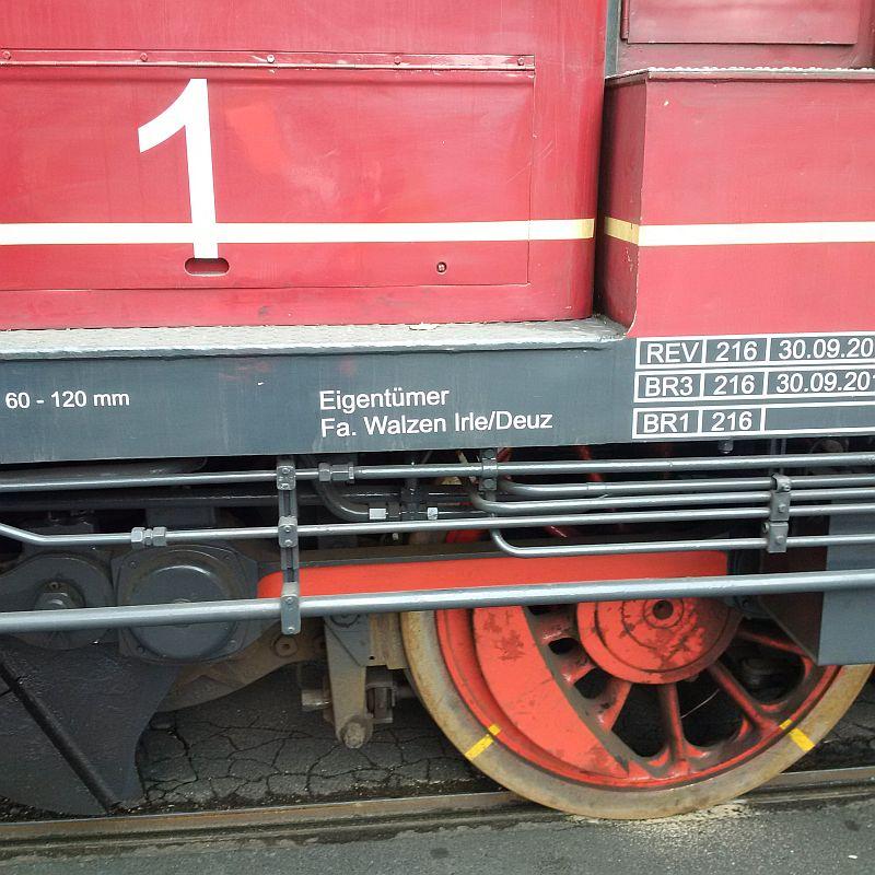 V60 1175, ex DB 261 175, jetzt Werkslok  421