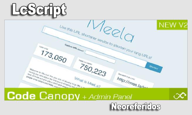 Meela - URL Shortener Script with Stats page! v2.0 Meelaf12