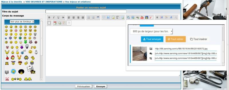 Comment insérer une photo sur le forum Upload14