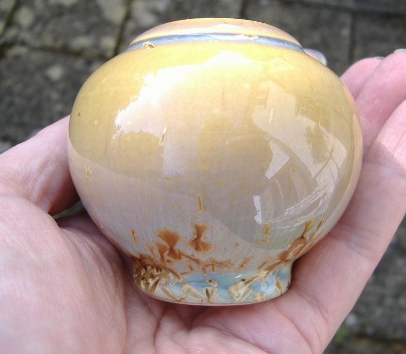 Crystalline pot, French? - possibly SOLAZAREF Dan Winter Crysta10