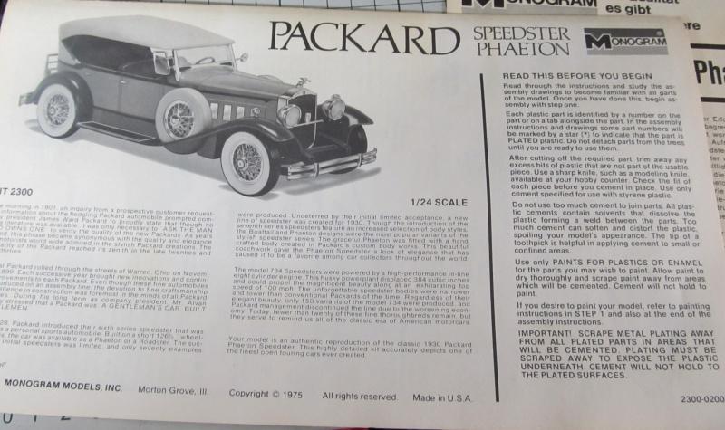 1930 Packard Speedster Phaeton Model 734 (Monogram Maßstab 1 zu 24) Img_3913