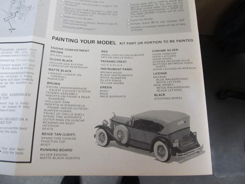 1930 Packard Speedster Phaeton Model 734 (Monogram Maßstab 1 zu 24) Img_3922
