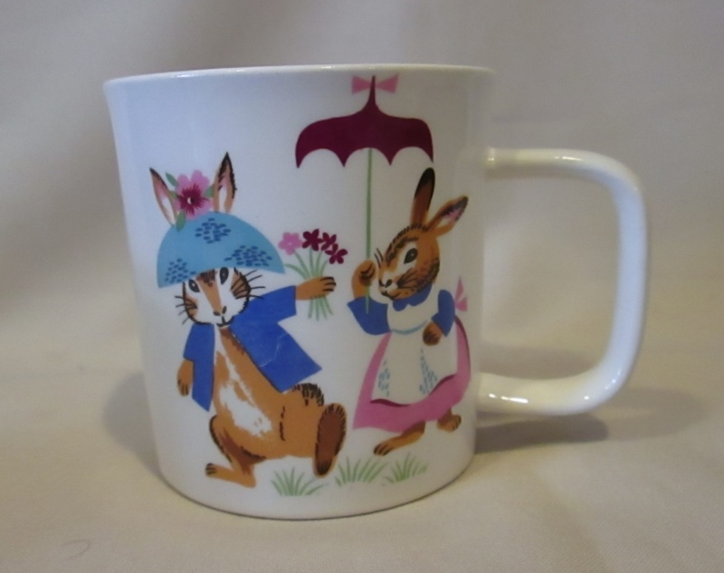 Crown Lynn Bunny Cup and Saucer Img_4712