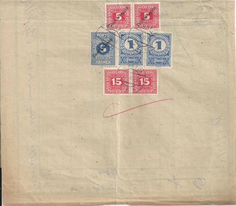 Zustellkarten für Post(Zahlungs)anweisungen Bild19