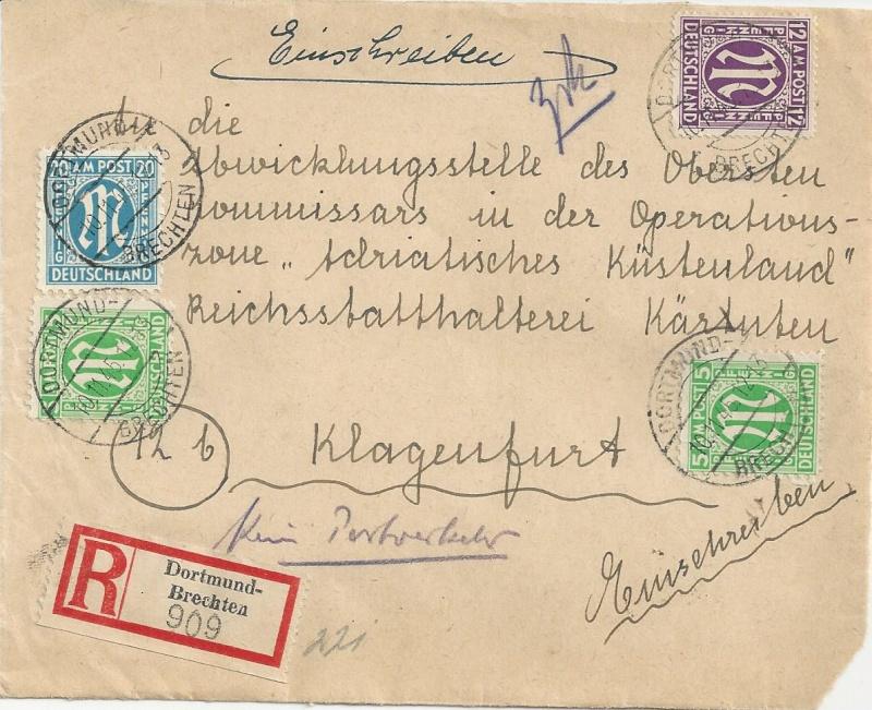 Deutsches Reich - Belege aus November 1945 Bild23