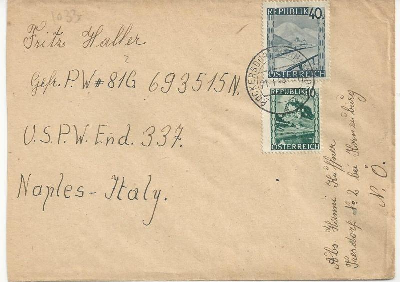 Kriegsgefangenenpost II. Weltkrieg (Österreich) Bild30