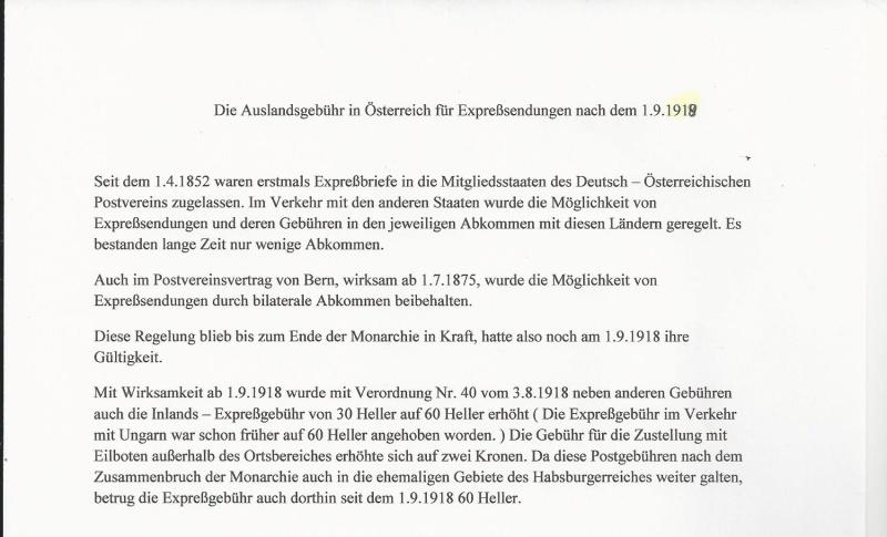 Die Auslandsexpreßgebühr ab 1.9.1918 Bild47