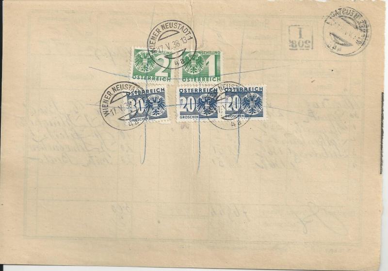 Zustellkarten für Post(Zahlungs)anweisungen Bild_314