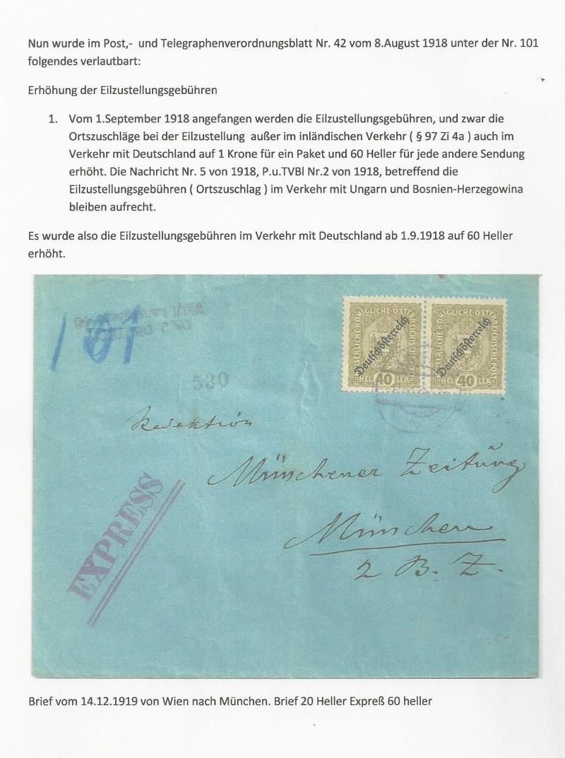 Die Auslandsexpreßgebühr ab 1.9.1918 Bild_713
