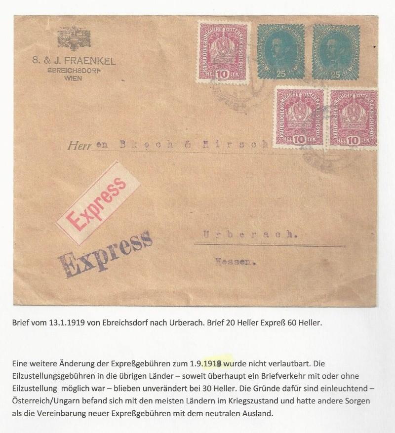 Die Auslandsexpreßgebühr ab 1.9.1918 Bild_813