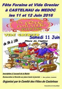 Fête Foraine et Vide-Grenier le 11et 12 Juin 2016 à Castelnau Médoc 10664f10