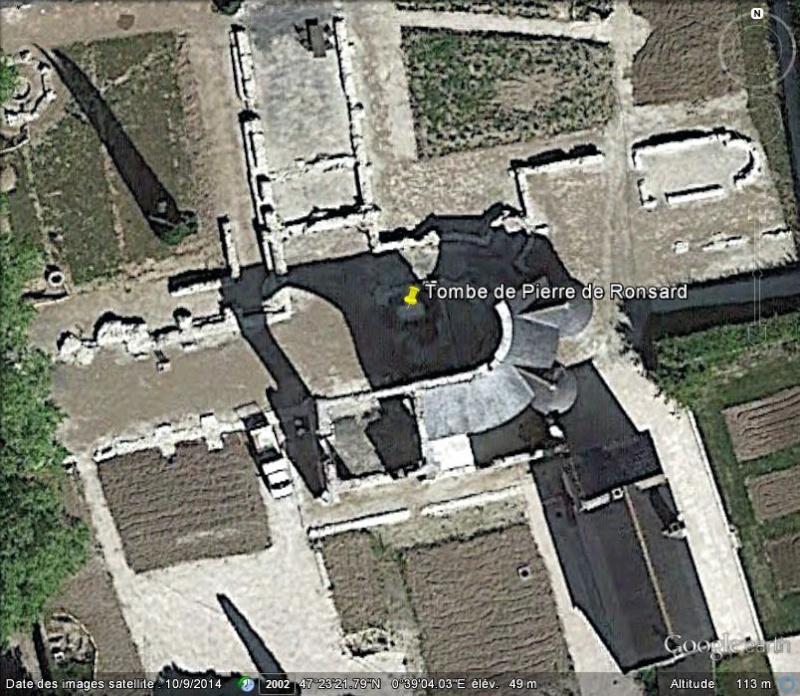 La tombe de Pierre de Ronsard - La Riche - Indre et Loire - France G10