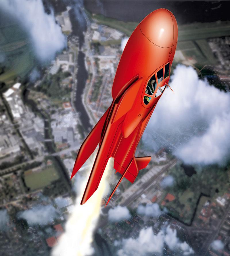 Raketenflieger Booste13