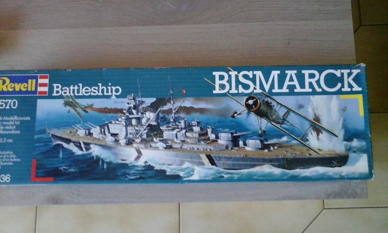 Le Bismarck de chez Revell échelle au 1/570 20160418
