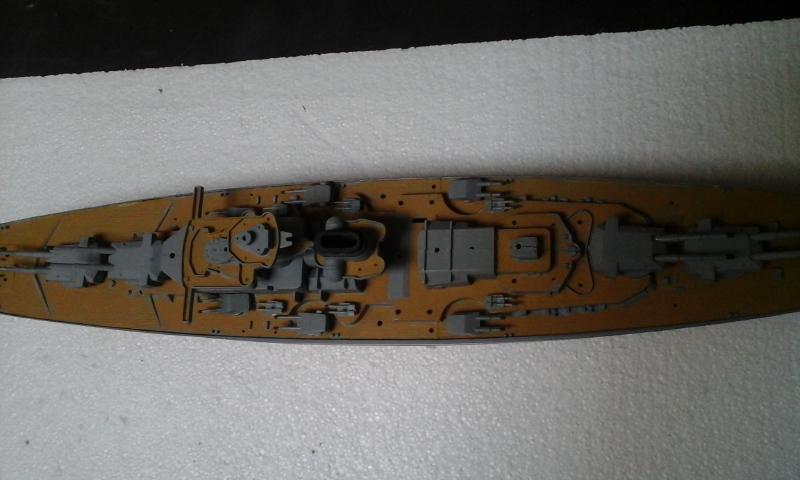 Le Bismarck de chez Revell échelle au 1/570 20160428