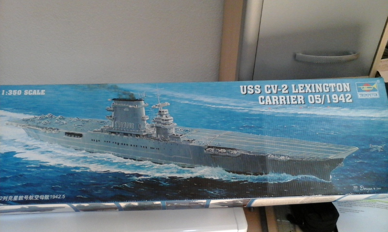 USS CV-2 LEXINGTON  CARRIER 05/1942 au 1/350° de Trumpeter 20160510