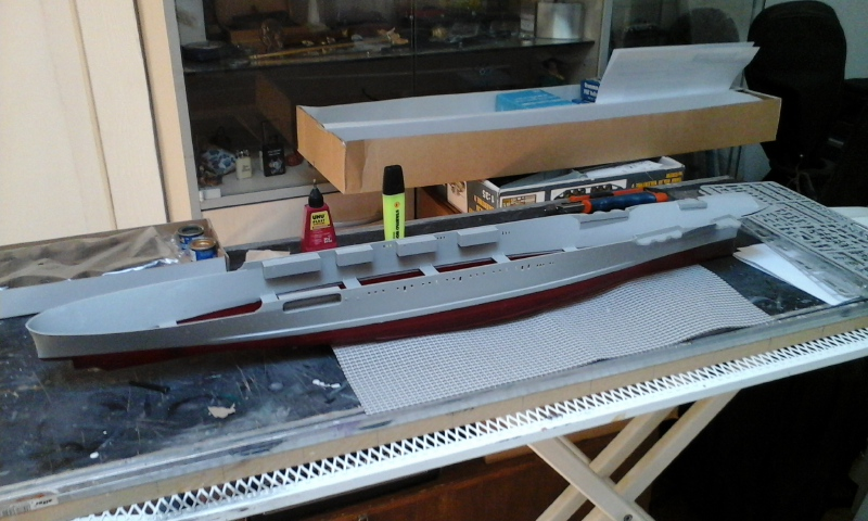 USS CV-2 LEXINGTON  CARRIER 05/1942 au 1/350° de Trumpeter 20160515