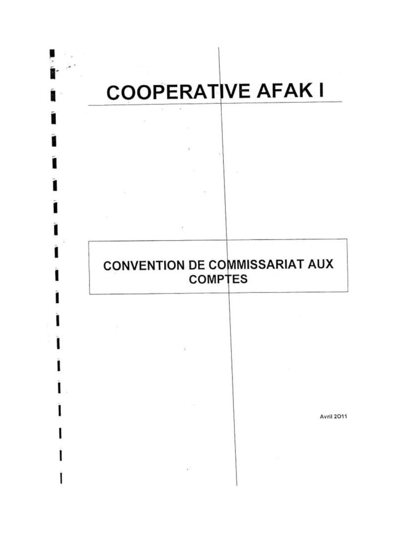 Documents officiels concernant le projet AFAK dans l'ordre chrologique 2011-010