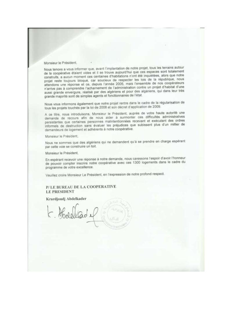 Documents officiels concernant le projet AFAK dans l'ordre chrologique 2011-012