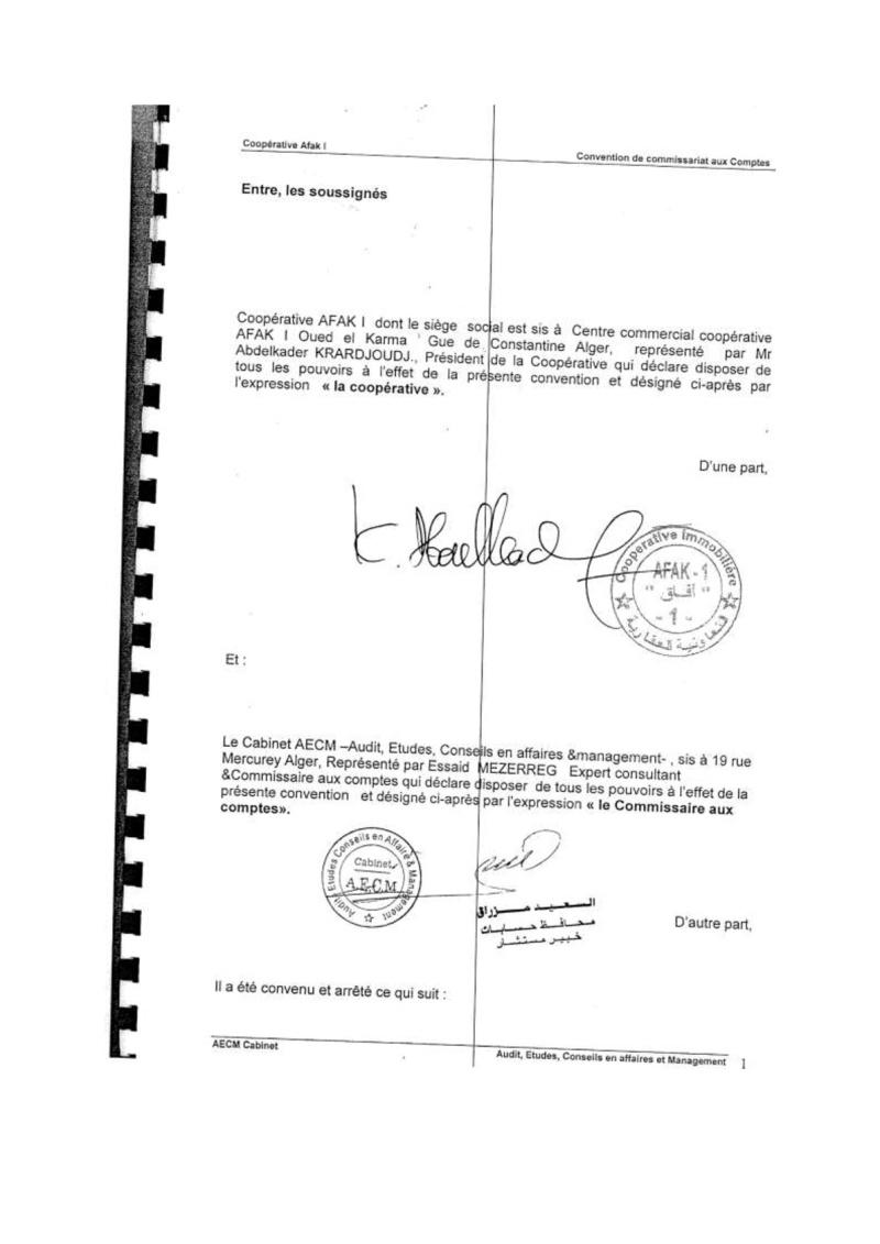 Documents officiels concernant le projet AFAK dans l'ordre chrologique 2011-013