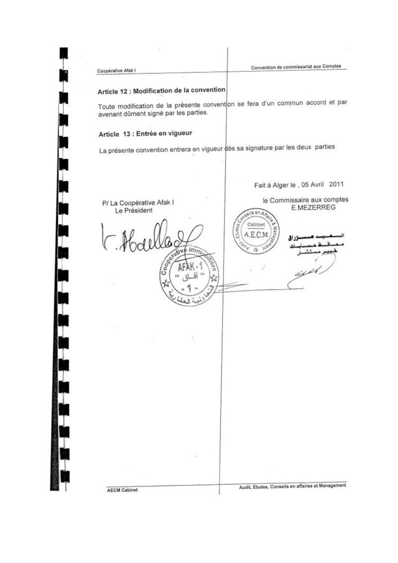 Documents officiels concernant le projet AFAK dans l'ordre chrologique 2011-015