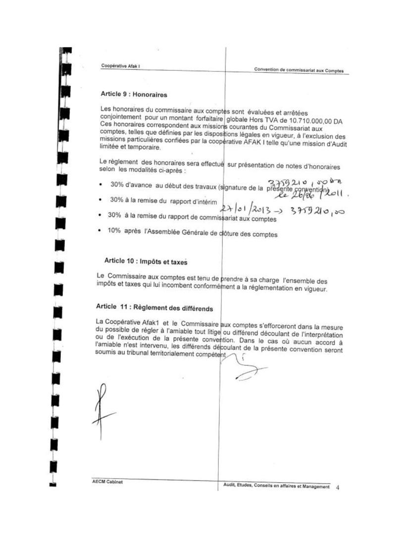 Documents officiels concernant le projet AFAK dans l'ordre chrologique 2011-016