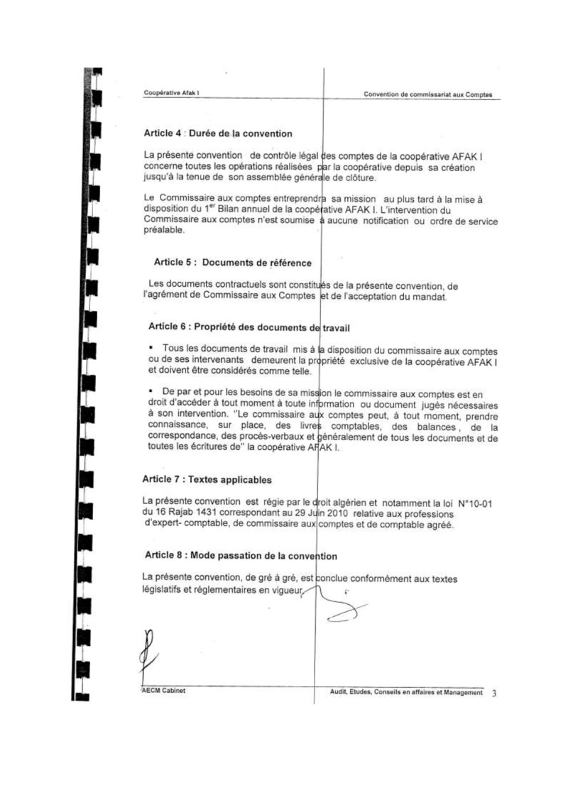 Documents officiels concernant le projet AFAK dans l'ordre chrologique 2011-018