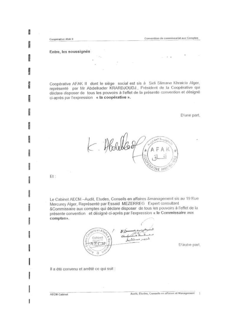 Documents officiels concernant le projet AFAK dans l'ordre chrologique 2011-021